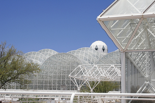 picture of exterior of biosphere 2 by flickr user pwachaser, licensed under creative commons - thanks!! http://www.flickr.com/photos/jeffrey2112/178909037/