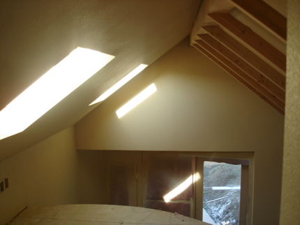 looking forward from back of loft