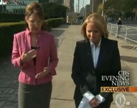 Palin and Couric by the UN — from CBS News
