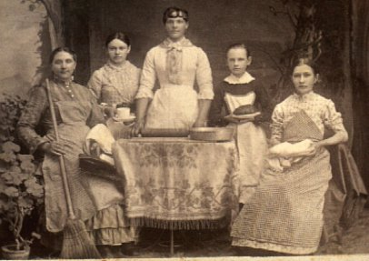 picture of victorian servants from http://sensibility.com/